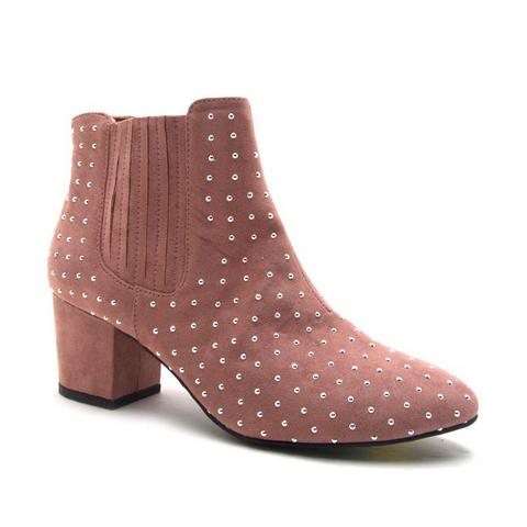 SKIPPERS BLUSH STUDDED BOOTIE