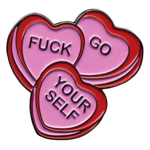 CANDY HEARTS ENAMEL PIN