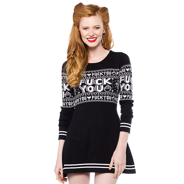 F*CK YOU SWEATER DRESS