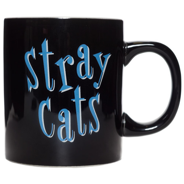 SOURPUSS STRAY CATS MUG BLACK