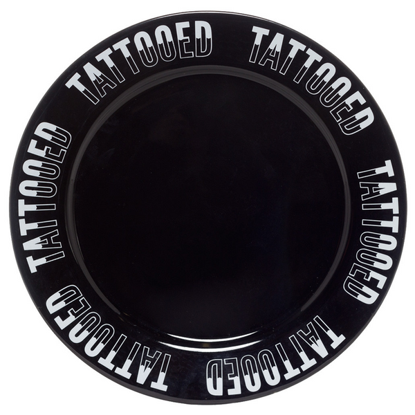 TATTOOED DINNER PLATE