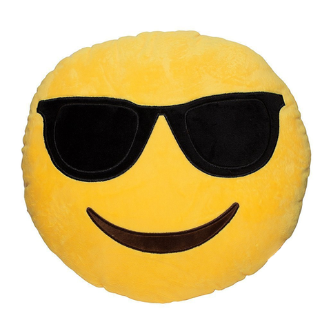 SUNGLASSES EMOJI PILLOW