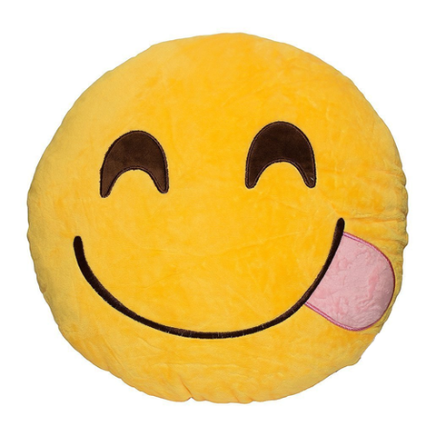 TONGUE OUT EMOJI PILLOW