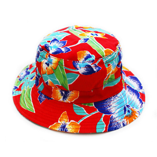 TROPICAL BUCKET HAT RED
