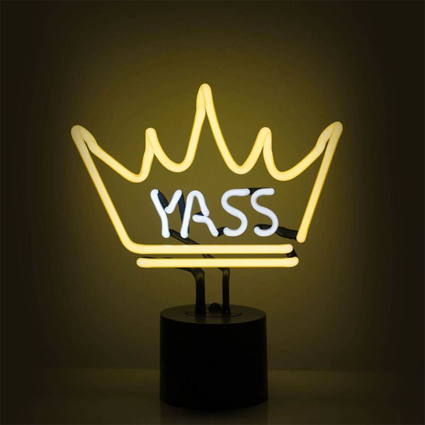 YASS QUEEN NEON SIGN TABLE LAMP