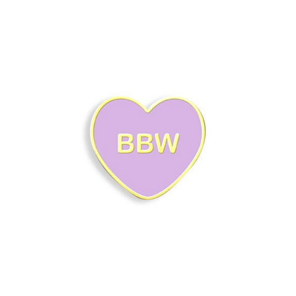BBW CANDY HEART ENAMEL PIN