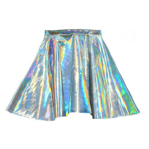 HOLOGRAM  SKATER SKIRT
