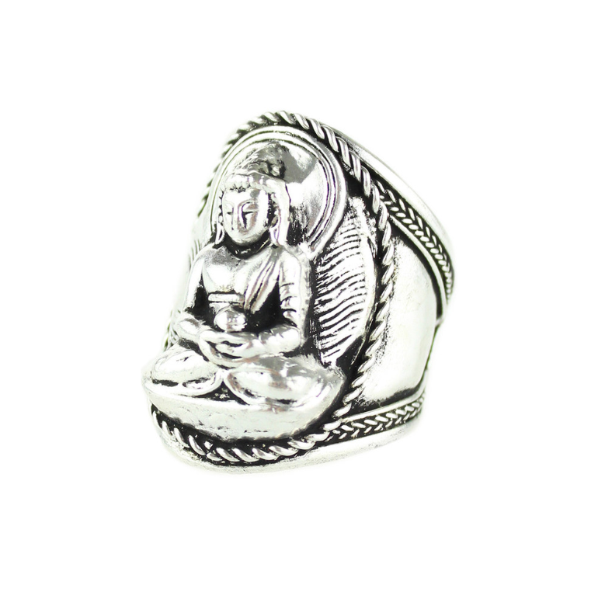 Tibetean Sitting Buddha Ring