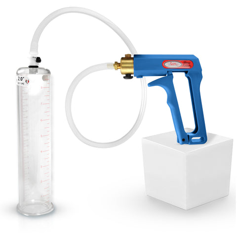 Penis Pump MAXI Blue 9 or 12 Inch Length 1.35-3.5 Inch Diameter Cylinder