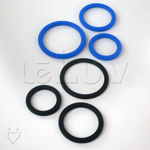 "Thin Round Smooth Cock Ring 3-Pack 32mm (1.2""), 40mm (1.6"") and 50mm (1.9"")"