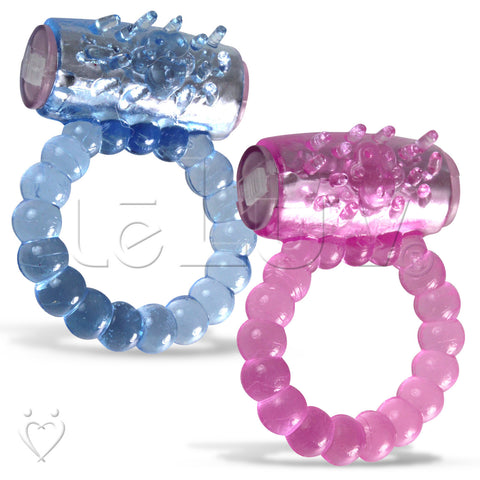 Beaded Luv Vibrating Cock Ring Clitoris Tickler