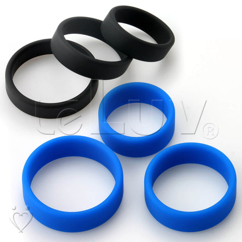 "Flat Band-Style Cock Ring 3-Pack 38mm (1.5""), 43mm (1.7"") and 48mm (1.9"")"