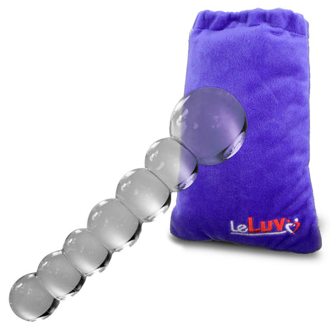 Glass Dildo Large Graduated Balls CLEAR