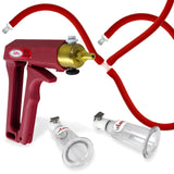 Nipple Pump MAXI Red Handle Premium Red Silicone Hose