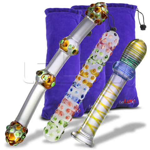 Glass SPRINGTIME FUN 3 Piece Gift Set Dildos