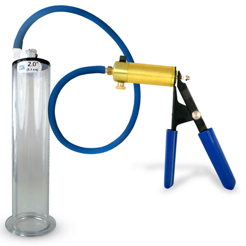 Penis Pump ULTIMA with Premium Hose Upgrade WIDE FLANGE Cylinder 9 or 12 Inch Length, 1.75-2.50 Inch Diameter