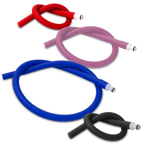 Slippery Silicone Hoses with Quick-Disconnect Male O-Ring Fitting for Vacuum Pumps | Choose Length & Color