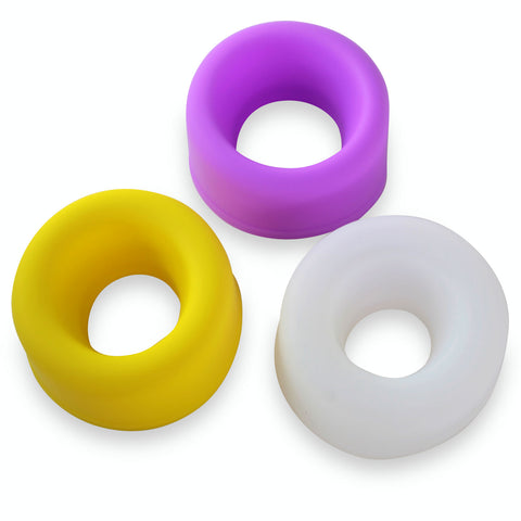 "Premium Silicone Sleeves Set of 3 | for 2.0""-2.5"" Cylinders"