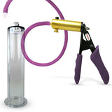 Penis Pump LeLuv ULTIMA Handle & Hose Silicone Ergonomic Grips, Silicone Hose with WIDE FLANGE Cylinder