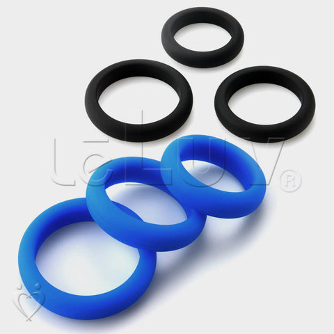 "Flat Inside Cock Ring  3-Pack 36mm (1.4""), 41mm (1.6"") and 45mm (1.8"")"