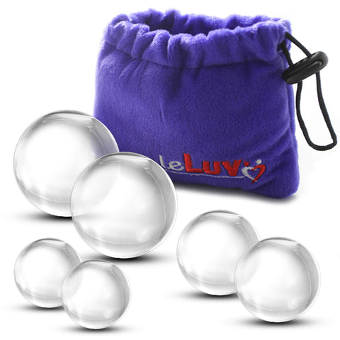 Glass Ben-Wa Balls Classic Kegel Exercisers Small, Medium and Large Pairs