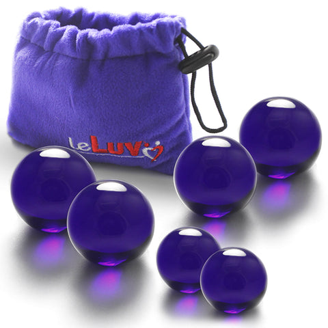 Glass Ben-Wa Balls Classic Kegel Strength Training Cobalt Blue