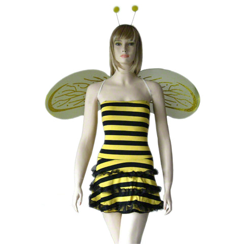 Costume Roleplay Busy Bee Honey Fly Halloween