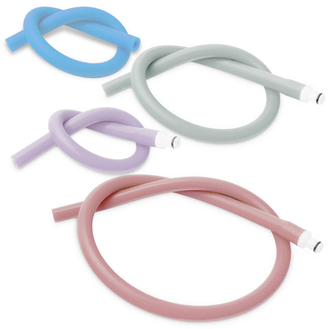 Uncoated Silicone Hose Light Color & Male Fitting for Vacuum Pumps | Choose Length