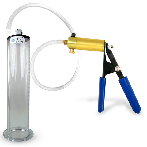ULTIMA Penis Pump with Wide Flange Cylinder | 9 or 12 Inch Length, 1.75-2.50 Inch Diameter
