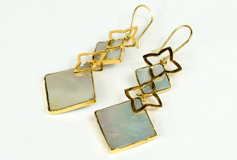 MINA RUTILE FILIGREE EARRINGS