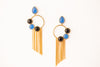 SKY ONYX TASSLE EARRINGS