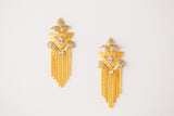 CRYSTAL SPARKLING STATEMENT EARRINGS