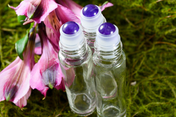 Amethyst Gemstone Roller Ball Perfume Bottles - Wild Witchery