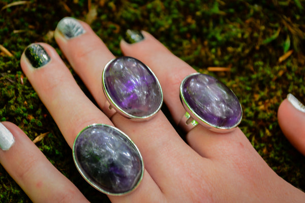 Amethyst Ring~For Connection to the Divine & Intuition - Wild Witchery