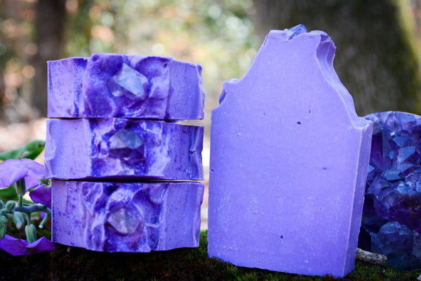 Amethyst-Cold Process-Soap-Wild Witchery