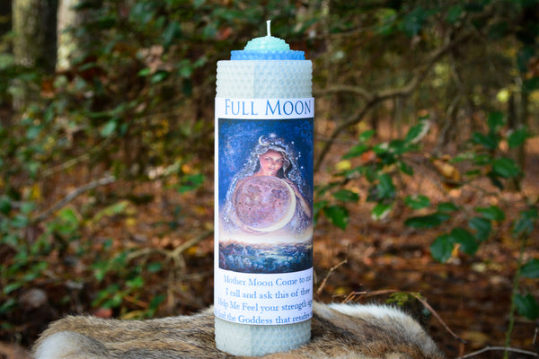 Full Moon Candle for Honoring Mother Moon - Wild Witchery