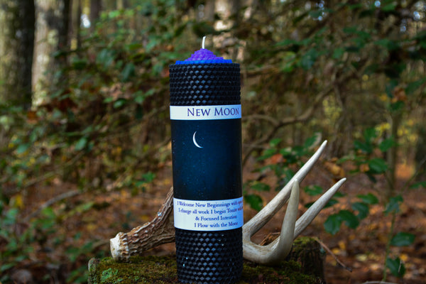 New Moon Candle for New Beginnings and Intention Setting - Wild Witchery