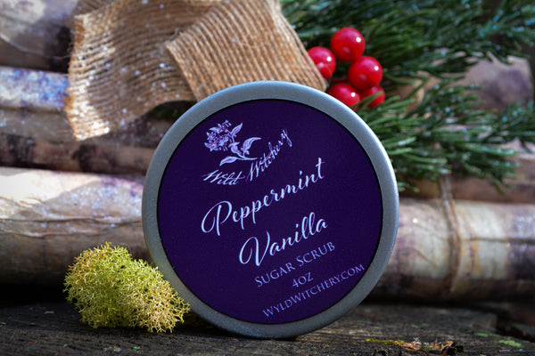 Peppermint Vanilla Sugar Scrub - Wild Witchery