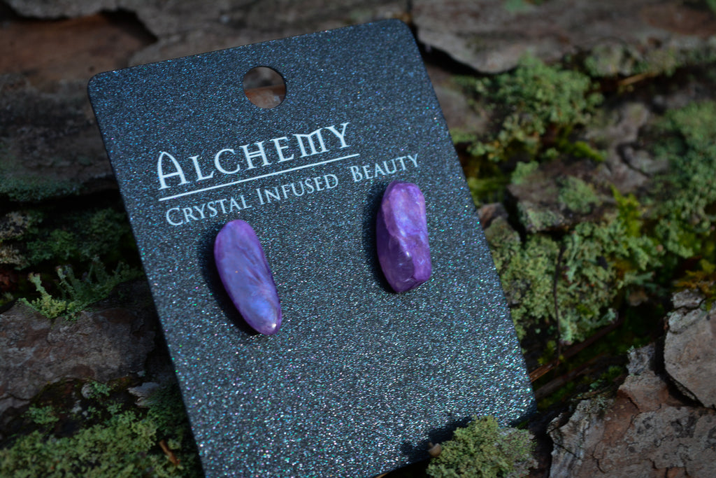 Charoite Earrings - Wild Witchery