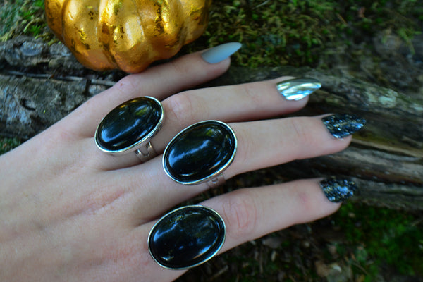 Black Onyx Ring~For Protection, Self-Mastery & Wisdom - Wild Witchery