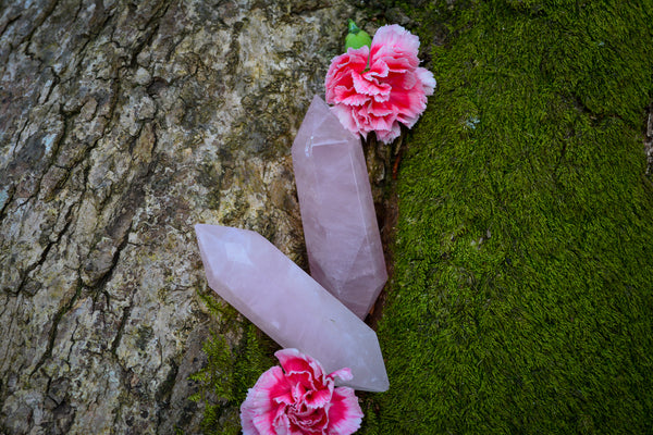 Large Rose Quartz Wands - Wild Witchery