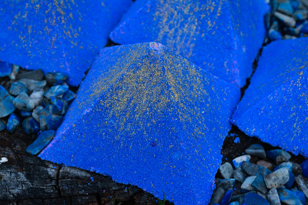 Lapis Lazuli Bath Bomb~For Bathing in Power, Wisdom & Truth - Wild Witchery