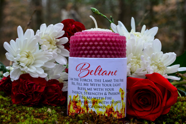 Beltane Candle~For Lighting the Fires of Beltane - Wild Witchery