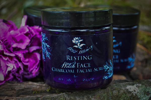 Resting Witch Face Charcoal Facial Scrub - Wild Witchery