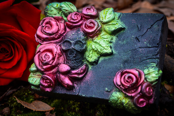 Skull + Roses Soap - Wild Witchery