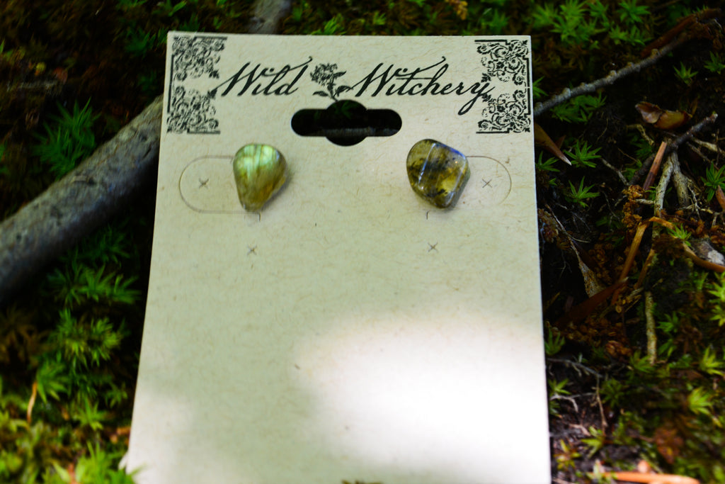 Labradorite Earrings~For Magick & Intention Setting - Wild Witchery