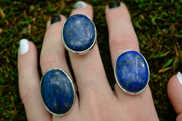 Lapis Lazuli Rings~For Wisdom, Psychic Abilities & Serenity