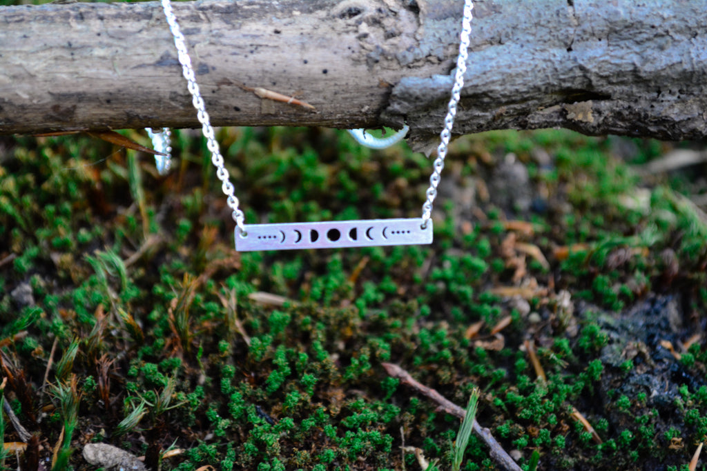 Triple Goddess Bar Necklace~To Honor the Phases of Your Life - Wild Witchery