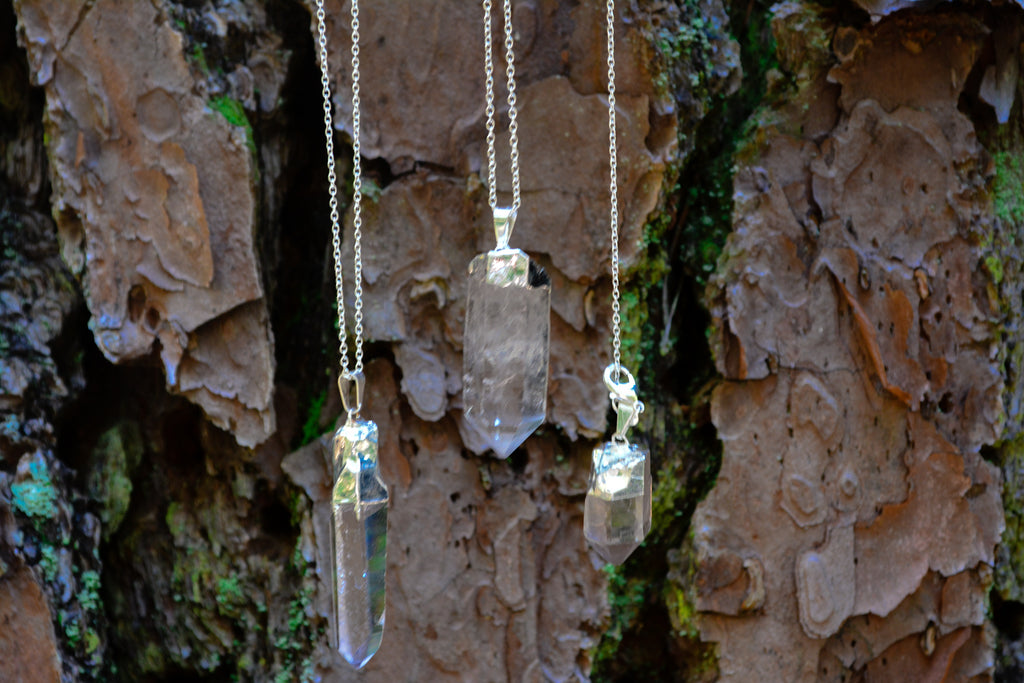 Clear Quartz Point Necklace~For Spiritual Growth - Wild Witchery
