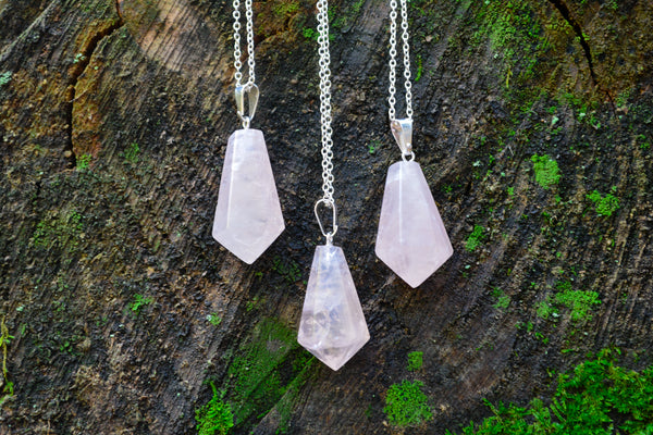 Rose Quartz Necklaces~For Love, Passion & Healing - Wild Witchery